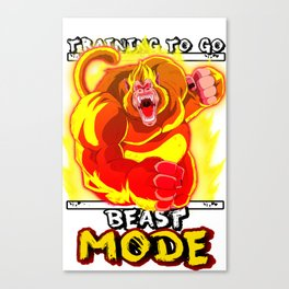Training to go - Beast mode Canvas Print