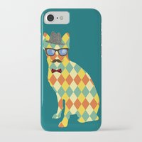 terrier iPhone & iPod Cases featuring Argyle Terrier  by David Andrew Sussman