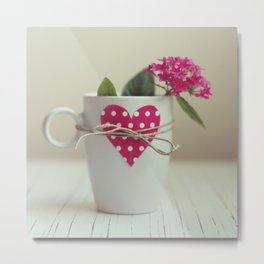 Cup full of love Metal Print