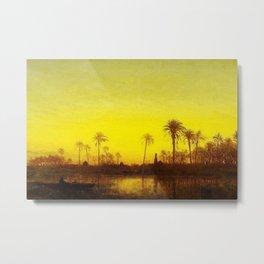 Nile River, Egypt landscape painting by Felix Ziem Metal Print