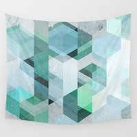 nordic Wall Tapestries featuring Nordic Combination 22 by Mareike Böhmer