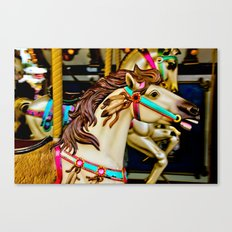 Carnival Carousel Horse with Feathers Canvas Print