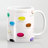 macarons Mugs featuring Macarons   by Viola Brun Designs