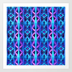 Blue/Purple Metallic Pattern Art Print