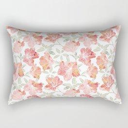 Peach pink azaleas Rectangular Pillow