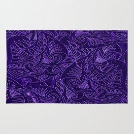 Purple Tapa Rug