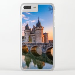 Sully sur Loire at sunset, Loire valley, France. Clear iPhone Case