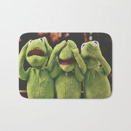 Funny Kermit Frog : Not Hear Not See Do Not Speak Bath Mat