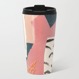 abstract collage with embroidery Travel Mug