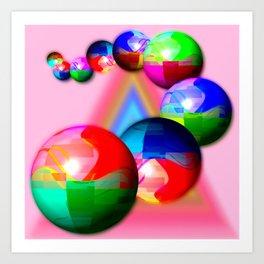 Bowling bowls Art Print