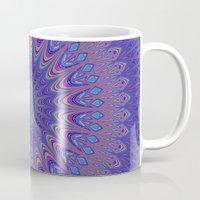 mandala Mugs featuring Purple mandala by David Zydd