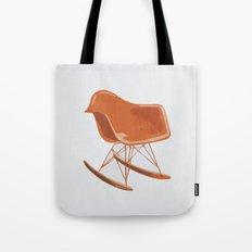 Mid-Century Rocker Chair - Orange Tote Bag