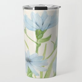 Watercolor Garden Flower Blue Cornflower Wildflower Travel Mug