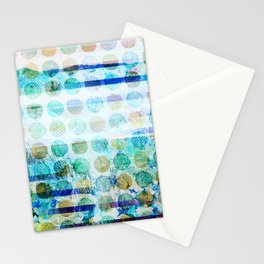 406 17 Blue Mountain Polka Dots Stationery Cards