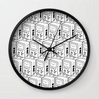 bmo Wall Clocks featuring BMO by Tom Milburn
