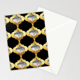 Alhambra Glam Quatrefoil Pattern Stationery Cards