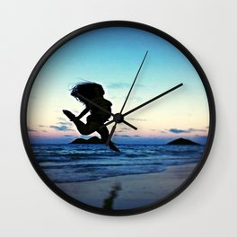 Dancing with the Wind Wall Clock