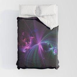 Fireworks Fractal Duvet Cover