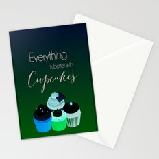 Everything is better with Cupcakes Stationery Cards