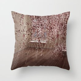 Electric Flowers Throw Pillow
