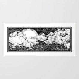 8 Bit Sky Art Print
