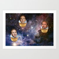 nicolas cage Art Prints featuring Cage Nebula by Jared Cady