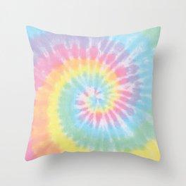 Pastel Tie Dye Throw Pillow