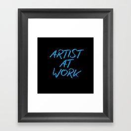 Artist at Work (blue) Framed Art Print