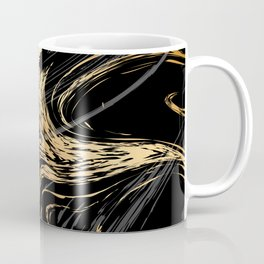 Luxurious Black and Gold Marble Coffee Mug