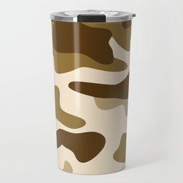 Beige camouflage pattern Travel Mug