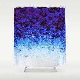 Indigo Blue Crystal Ombre Shower Curtain