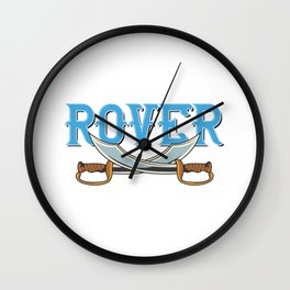 Rover Label Typeface Wall Clock