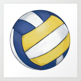 Volleyball Art Art Print