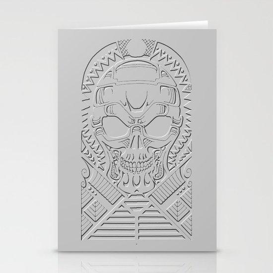 terminator polynesian Stationery Cards