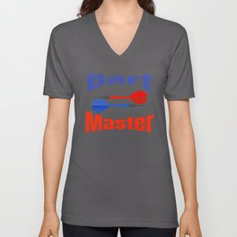 Dart Master Fun Darts Lover Unisex V-Neck