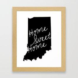 Indiana Home Sweet Home Framed Art Print