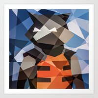 rocket Art Prints featuring Rocket by Eric Dufresne