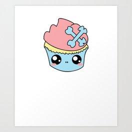 Cupcake Skull Art Print