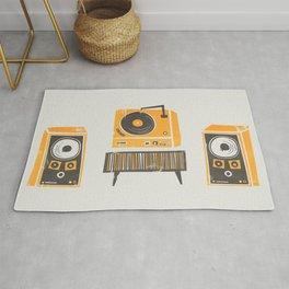 Vinyl Deck And Speakers Rug