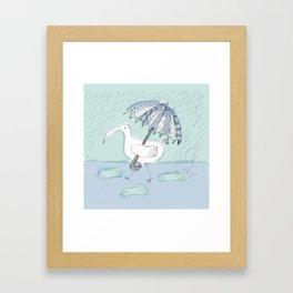 umbrella bird Framed Art Print