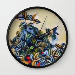 flower leavs Wall Clock