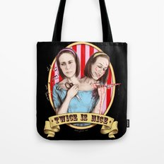 Tattler Twins (color) Tote Bag