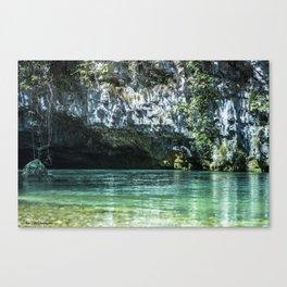 Grotte di Oliero Canvas Print