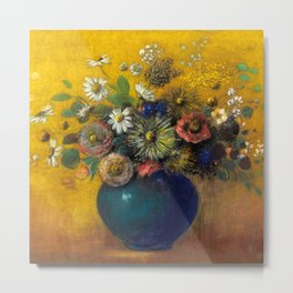 "Odilon Redon ""Bouquet of flowers"" (3) Metal Print"