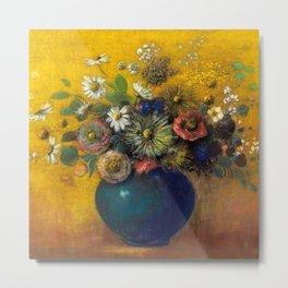 "Odilon Redon ""Bouquet of flowers"" (3) Metal Print"