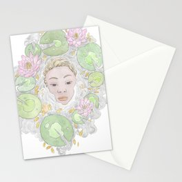 Water Lily Lady Stationery Cards