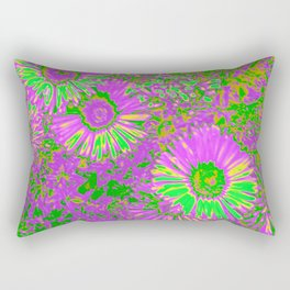 Amazing glowing Flowers A Rectangular Pillow