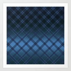 Beautiful oblique cell on a satin blue background . Art Print
