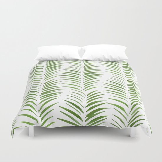 Herringbone Green Nature Pattern Duvet Cover