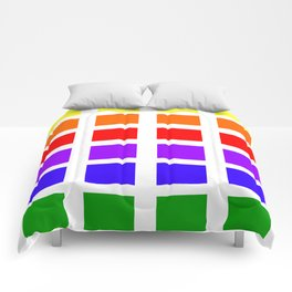 Colorful Art rainbow swatches pattern Comforters